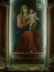 Immagine della Madonna con vetri rotti