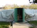 Quel che rimane del poallone della piscina del Vivere Verde