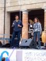 Michele Alfosi e Federica Ortaggi mentre introducono la GMG